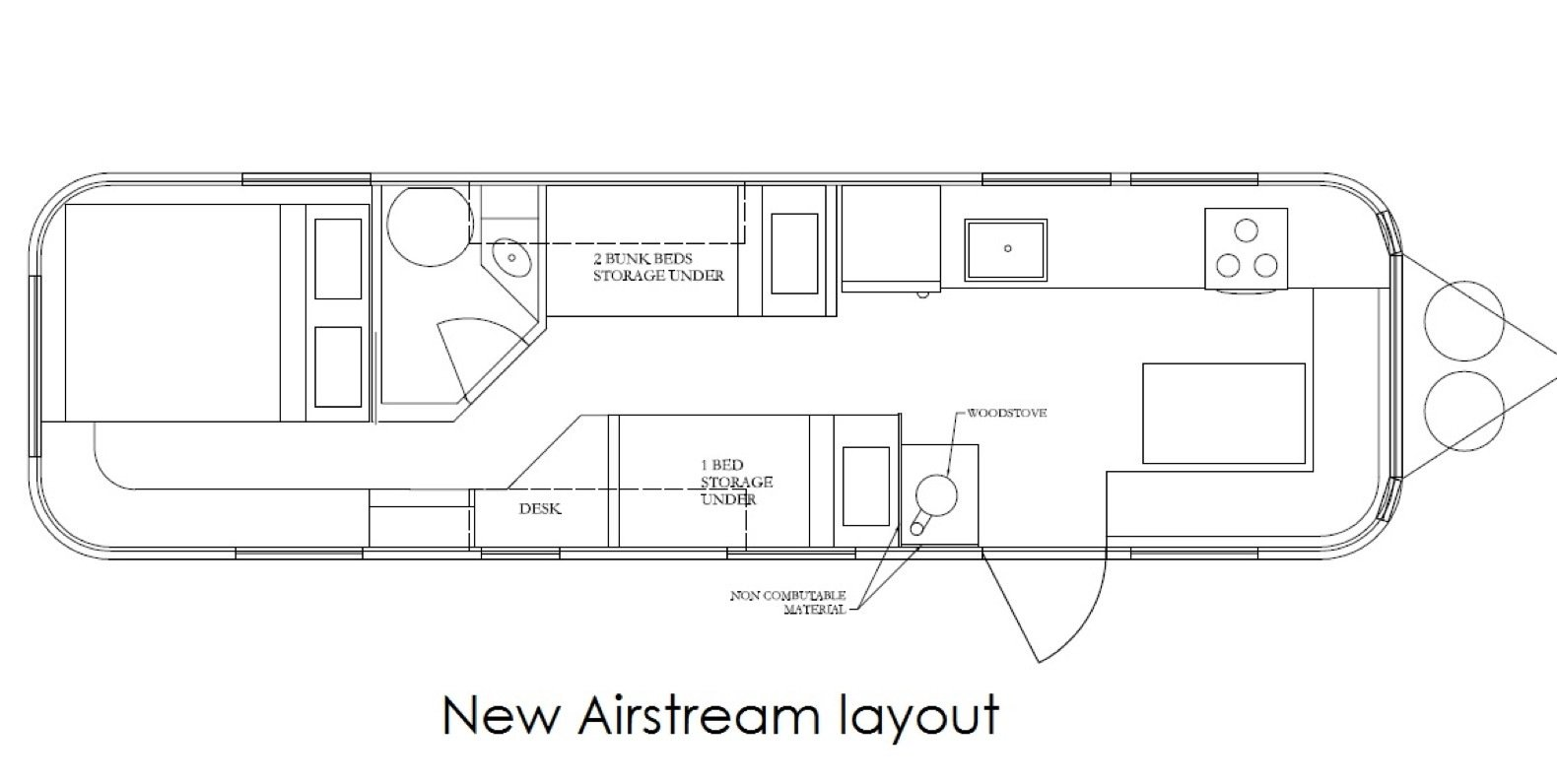 The Airstream's new layout.