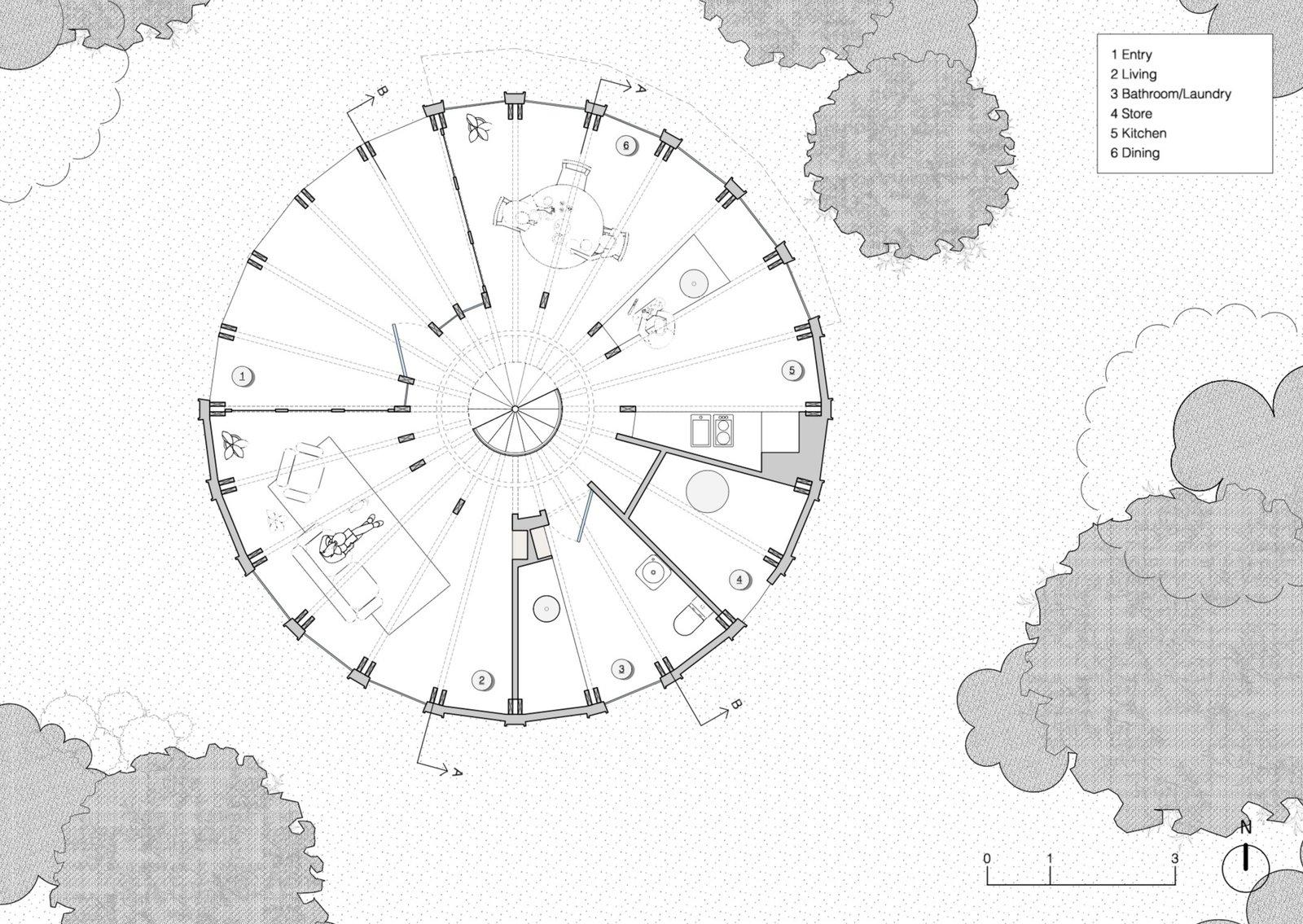 St Andrews Beach House lower floor plan