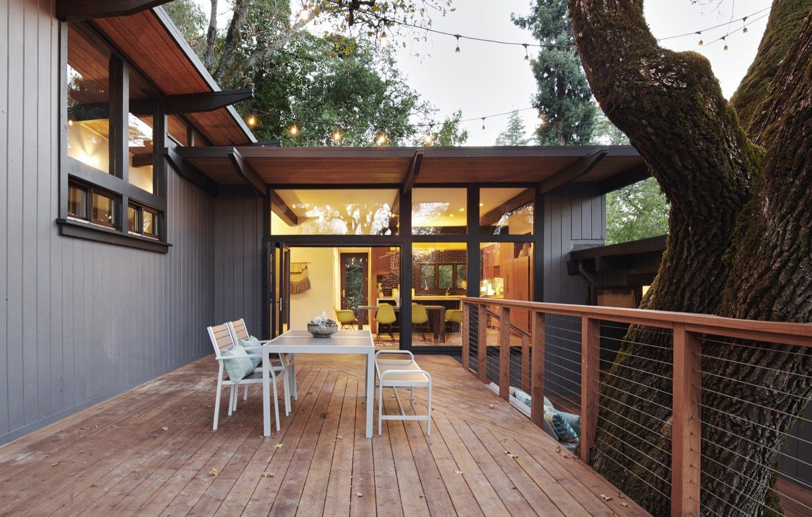 midcentury hillside remodel deck