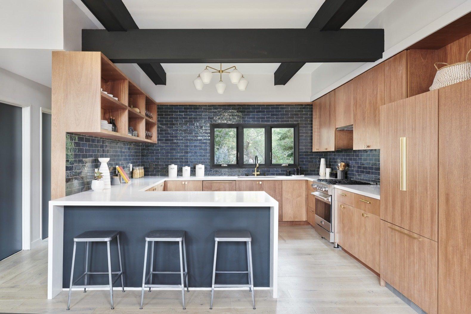 midcentury hillside remodel kitchen