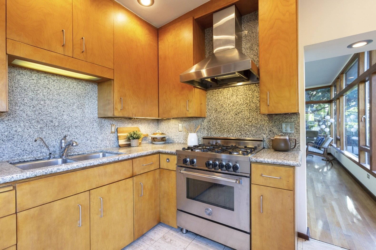 John Kewell midcentury home kitchen