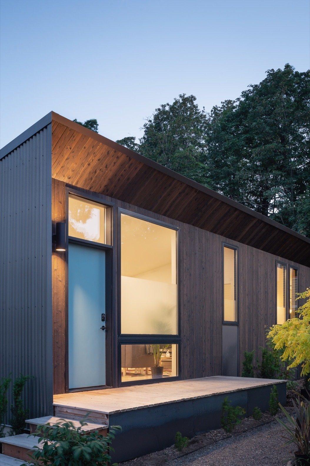 Solar Studio prefab roof overhang