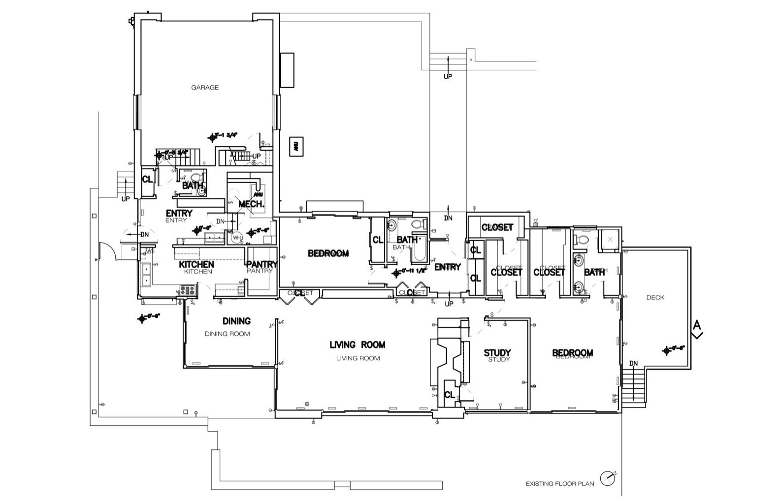 Floor plan of the original house.
