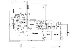 Floor plan of the original house.