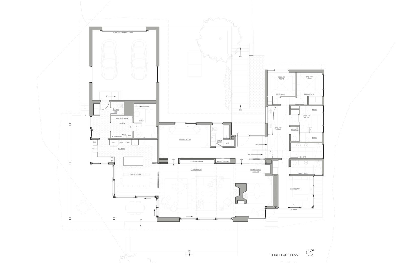 Candlewood Lake House first floor plan