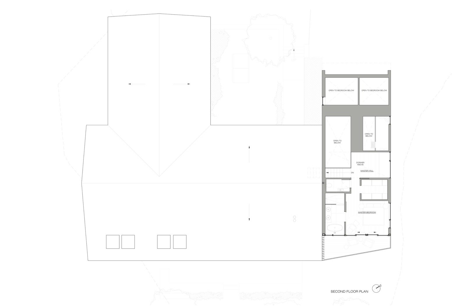 Candlewood Lake House second floor plan