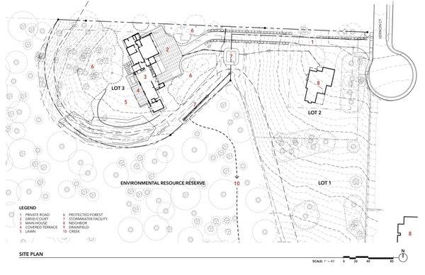 Wildwood House site plan