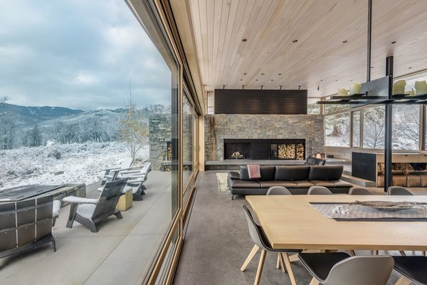 When a couple approached Colorado-based Cottle Carr Yaw (CCY) Architects for a modern mountain retreat, they brought with them images of what would be the founding inspiration behind the new design—a simple and rugged cabin in Norway where the husband and his relatives had been gathering since the 1950s. Much like this ancestral Norwegian cabin, the new getaway is designed with the same rustic charms and deference to the landscape, as well as an inviting environment for friends and family to gather for generations to come.
