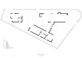 Three Piece House site plan floor plan