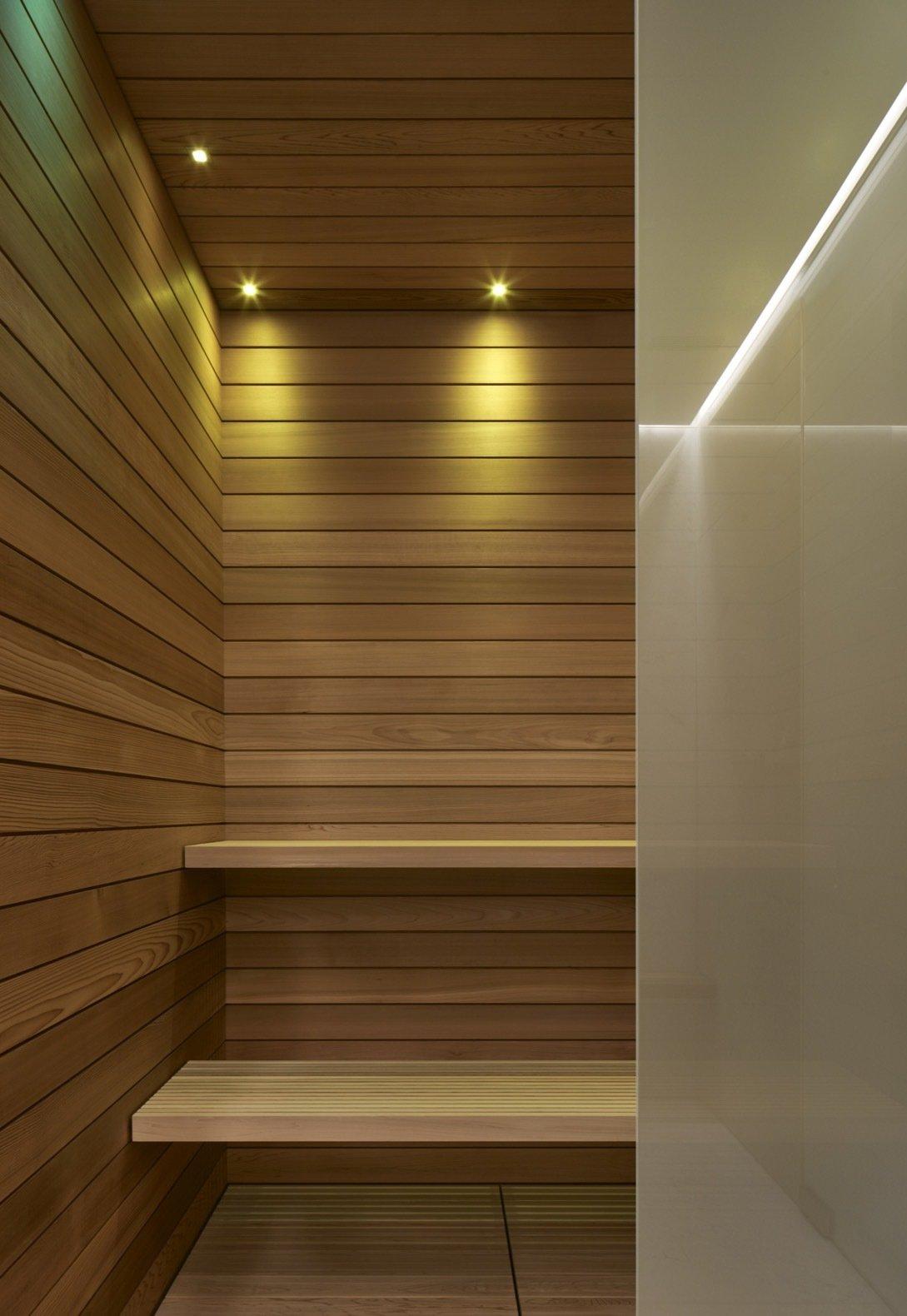 Quebec Pool House western red cedar sauna