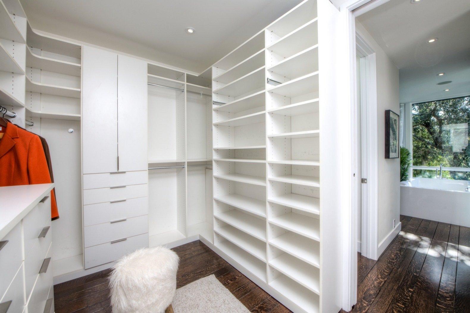 Gavin Newsom midcentury home closet