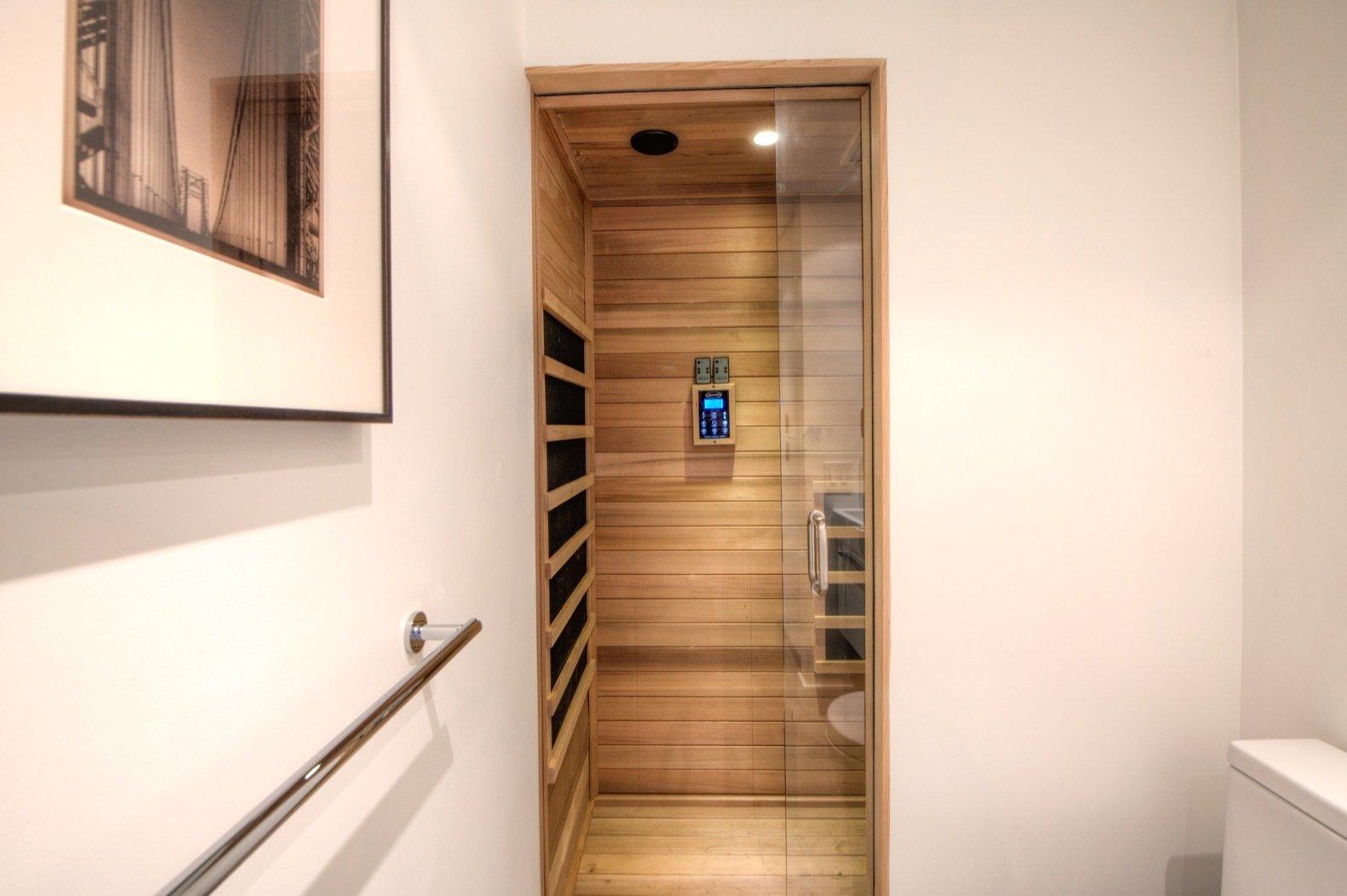 Gavin Newsom midcentury home sauna
