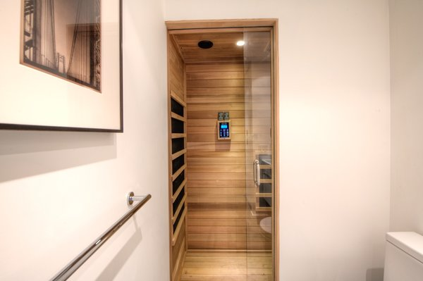 One of the bathrooms includes a dry sauna.