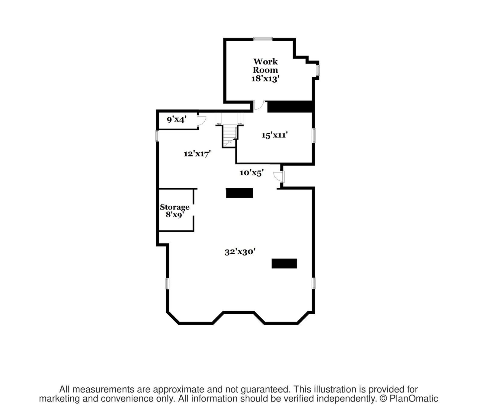W. Irving Clark House basement floor plan