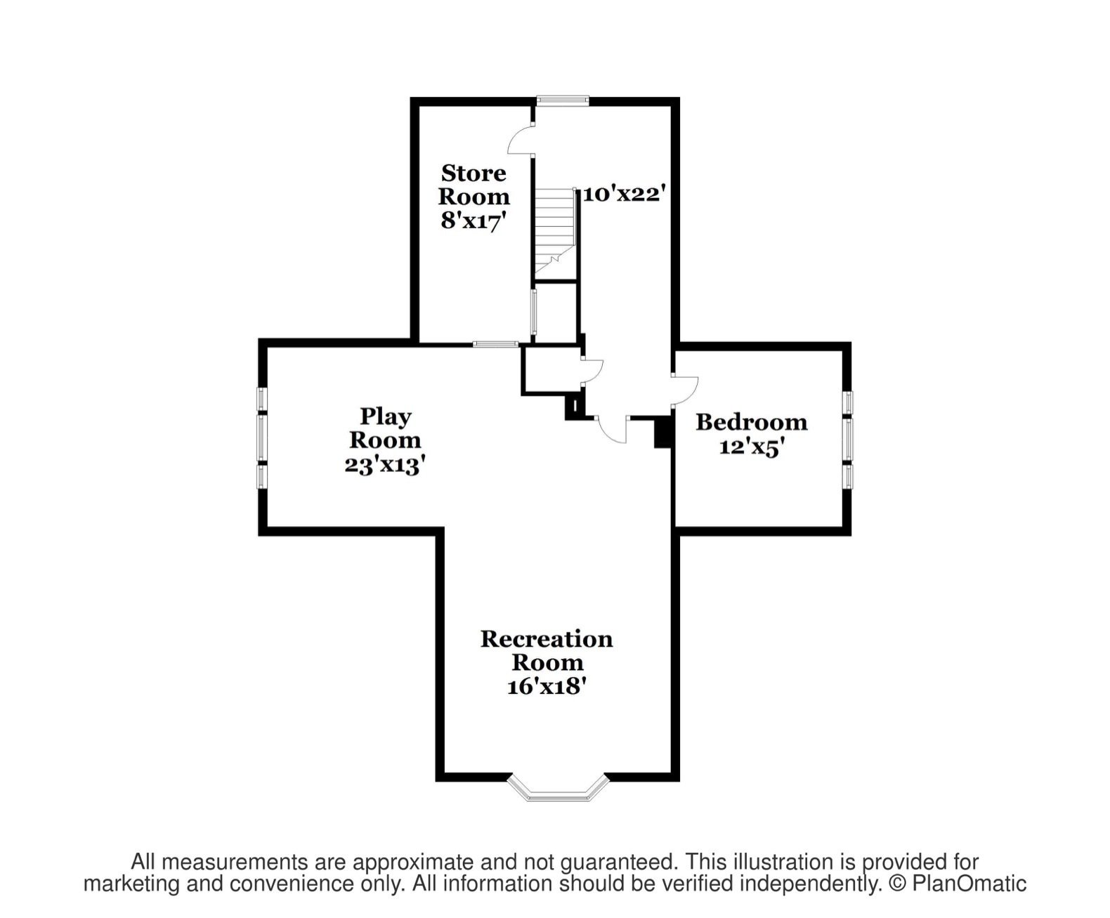 W. Irving Clark House third floor plan