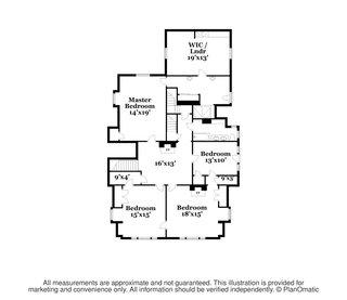 W. Irving Clark House second floor plan