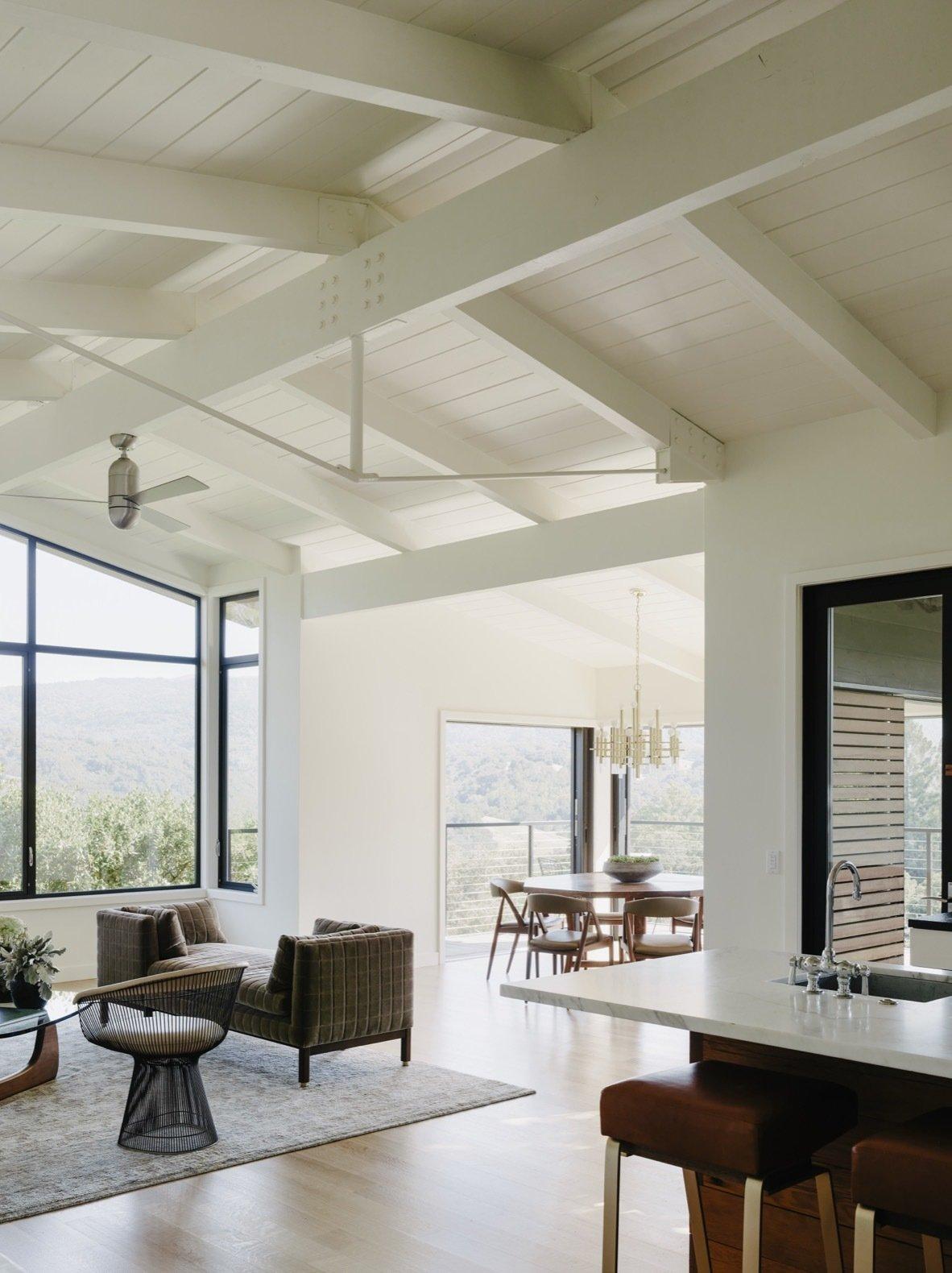 Portola Valley House living room