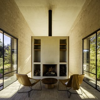 Natural light fills the house from four sides.