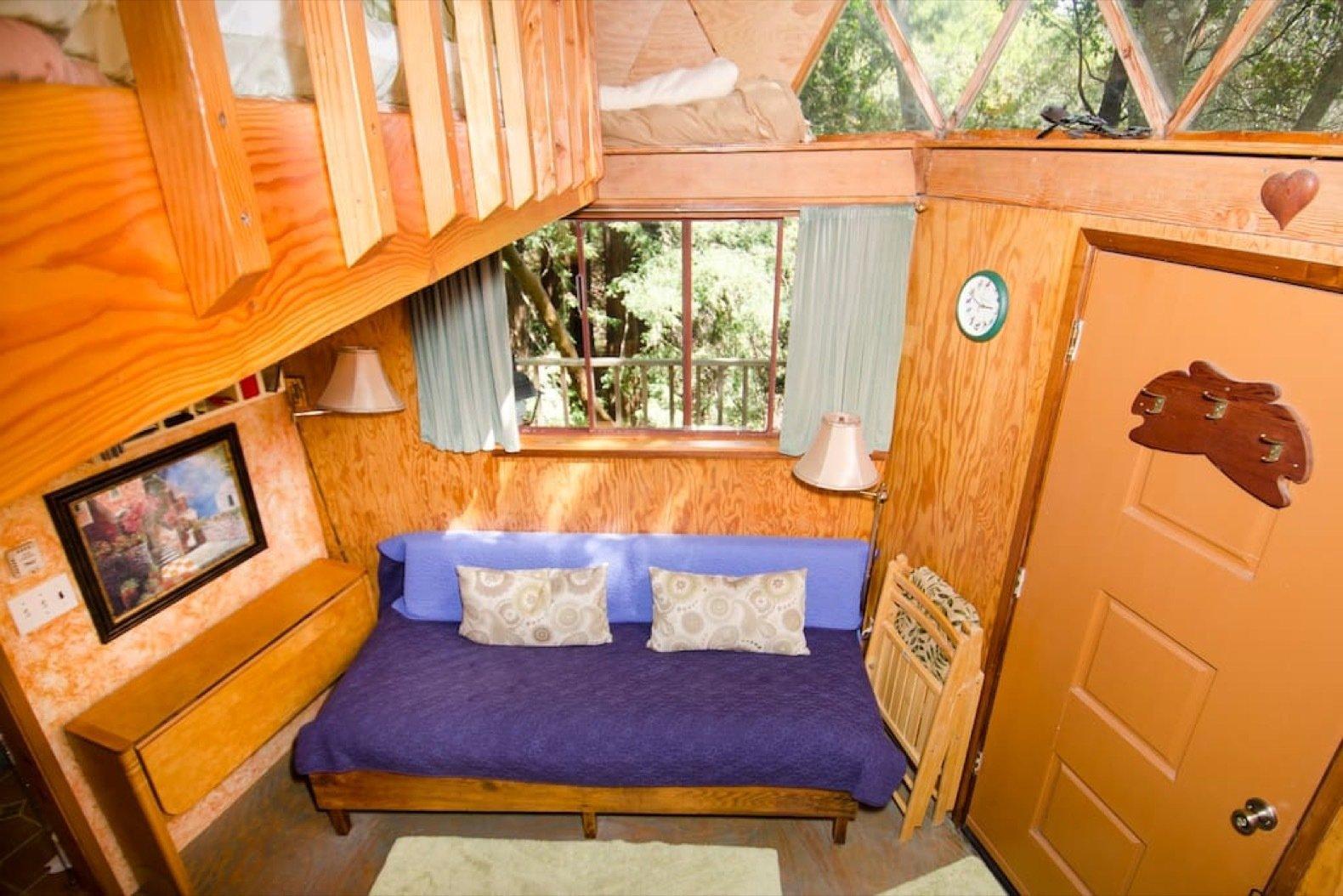 Mushroom Dome Cabin interior