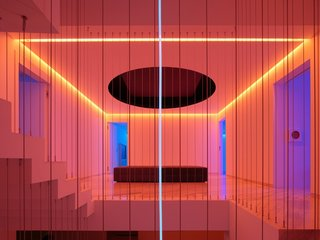 Moody LEDs Turn This Mexico City Abode Into a Neon Sculpture at Night
