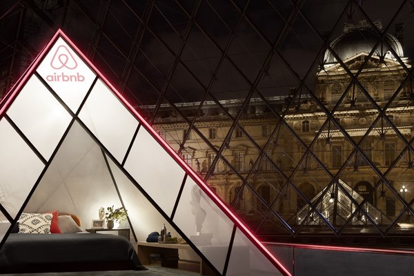 The suite will be placed underneath the Louvre Pyramid.