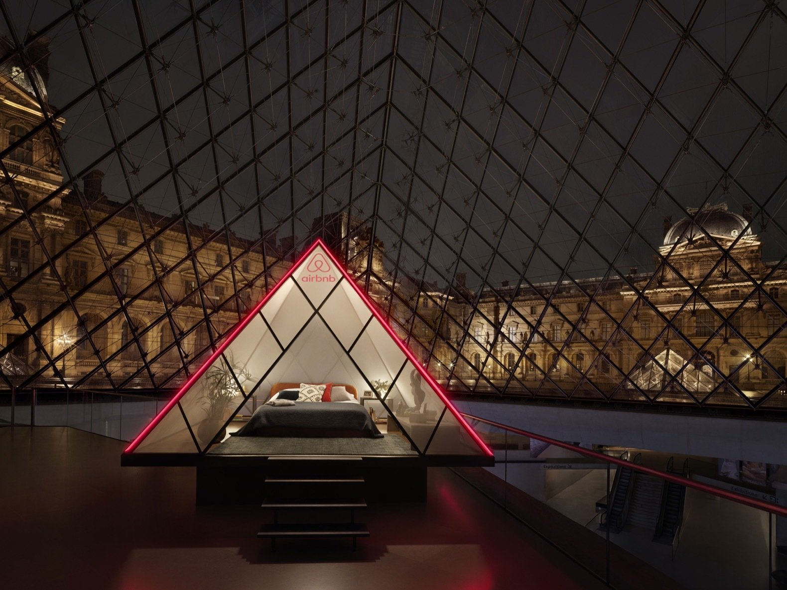 Airbnb Night At Louvre pyramid guest suite