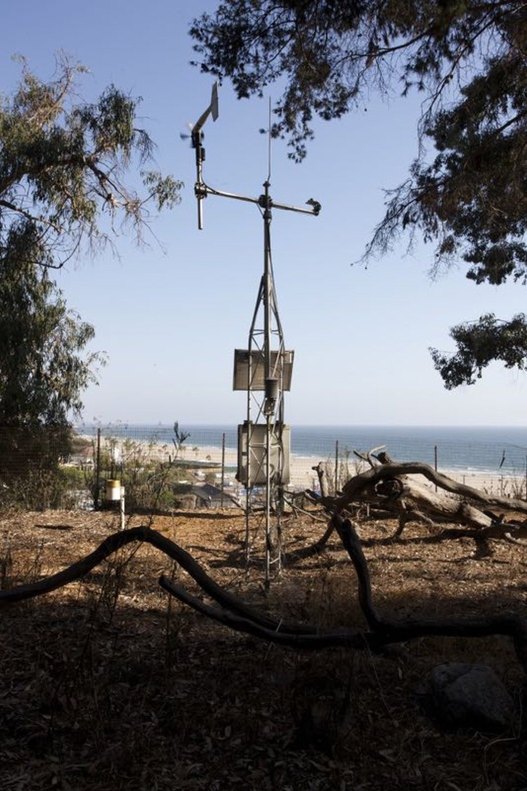 The Foundation installed a weather station at the south edge of the site to monitor environmental conditions, beginning in 2011.  Photo 15 of 21 in Getty Unveils New Plan to Conserve the Iconic Eames House