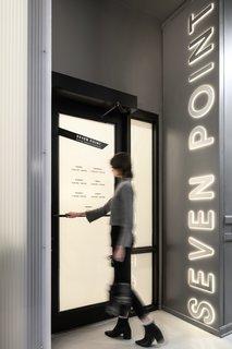 Ten-foot-tall signage greets customers at the entrance.