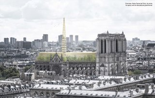 Architects Propose a Giant Greenhouse For the Roof of Notre Dame Cathedral