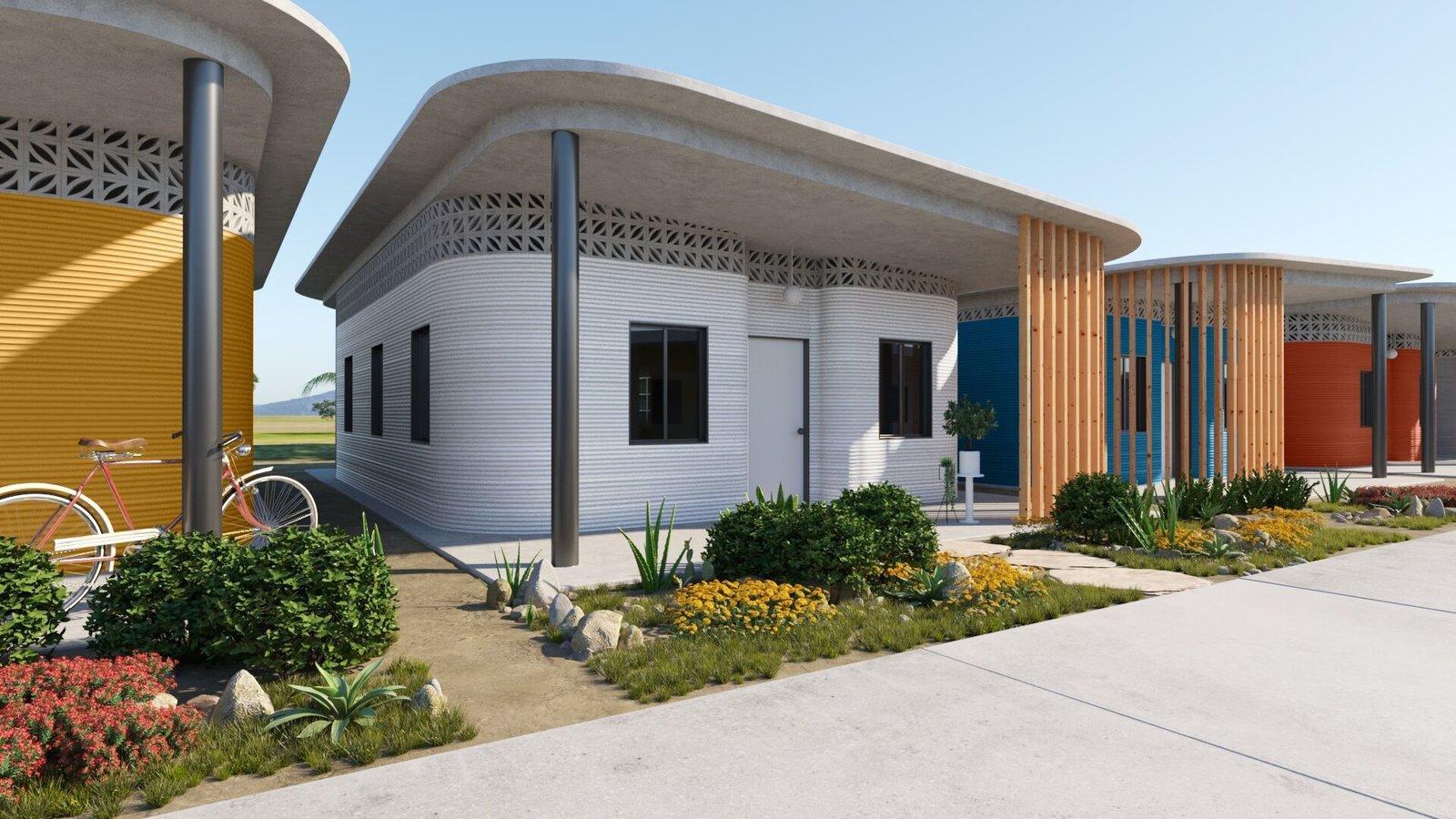 ICON 3D Printed Village rendering