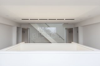 """""""At certain moments, sunlight reaches all the way to the basement from the roof ceiling, generating a sense of spatial connection across the floors,"""" notes Aliabadi. """"The house is of a one, measureless void, which is one of the major themes of the atelier."""""""