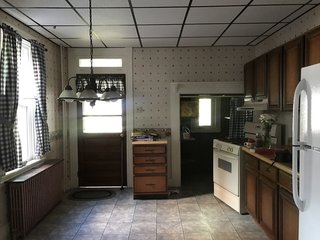 Before: renovating the kitchen proved to be the biggest challenge due to its narrow size.