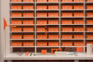 """The Ceramic Block can be purchased during the exhibition. The removal of a block will change the installation's appearance and ties into Abloh's vision of an evolving """"Tomorrow."""""""