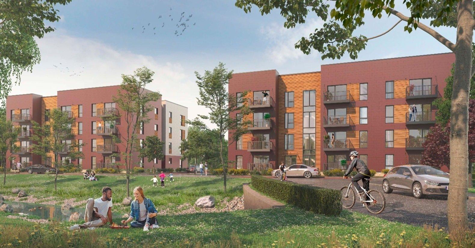 BloKlok modular housing Worthing exterior