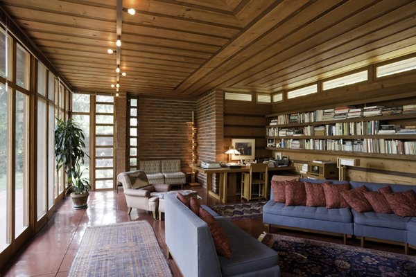 Considered the first Usonian prototype, the Jacobs House (or Jacobs I) in Madison, WI (constructed 1936-1937) was built for just $5,000 in its day and was the model for affordable, middle-class housing in mid-century America.