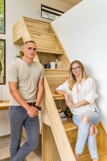 The design couple: Mike Donahue is a junior architect pursuing licensure. Lauren Walker is a self-taught artist and designer.