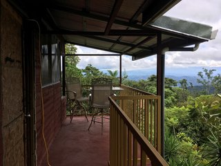 Before: The existing balcony and the stunning views helped cement Mike and Lauren's decision to purchase the house.