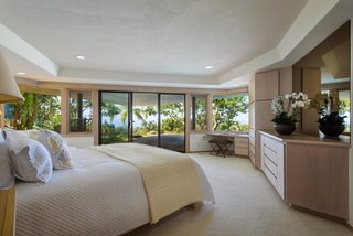 The master bedroom suite is located at the front of the home.