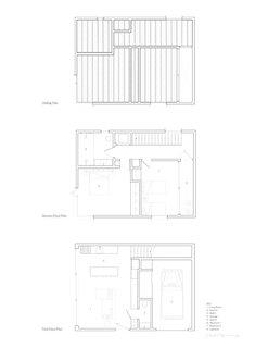 Harrison St. House Back House floor plans