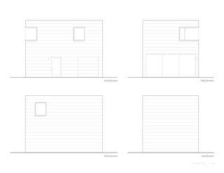 Harrison St. House Back House elevations