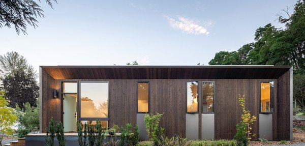 This one-bedroom NODE prefab slots perfectly into a Seattle backyard and produces all of its own energy—with enough leftover to power the neighboring house.