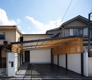 Named the House in Kyoto after its location, the residence for a family of five is located in a dense yet quiet residential neighborhood.