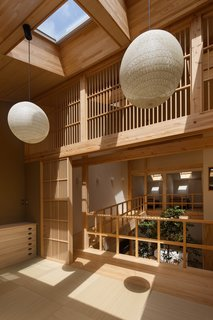 A pair of DAIKO LED pendant lamps are located in the tatami room.