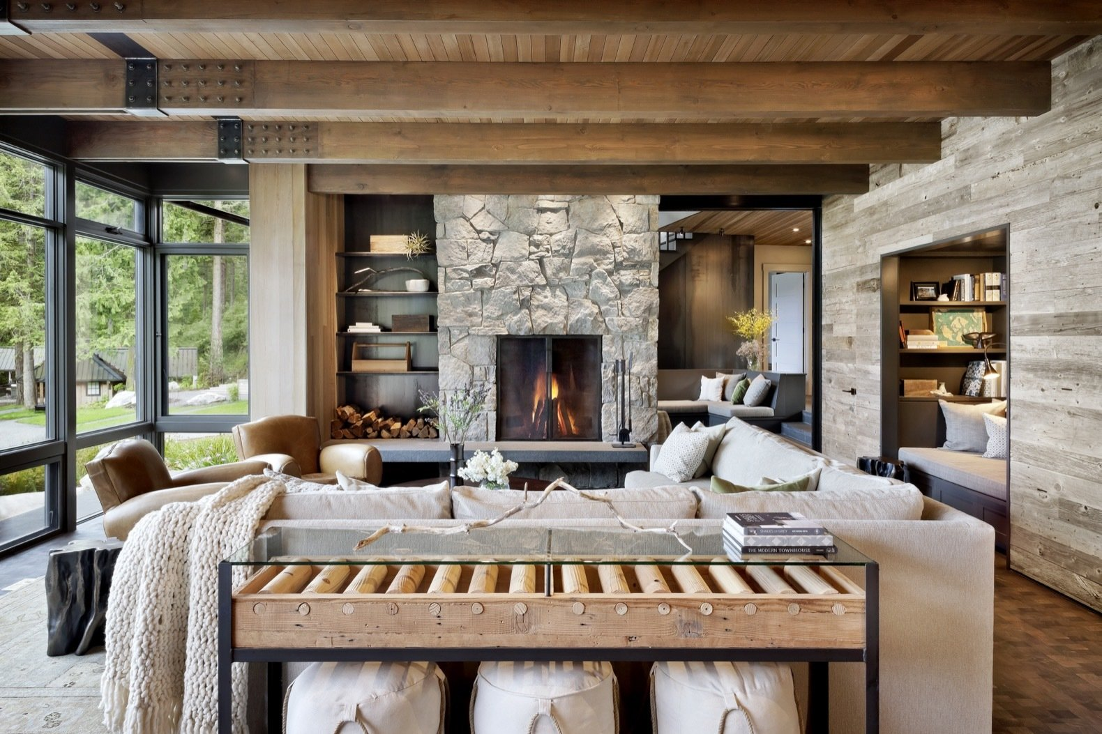 Orcas Island Retreat DeForest Architects living room