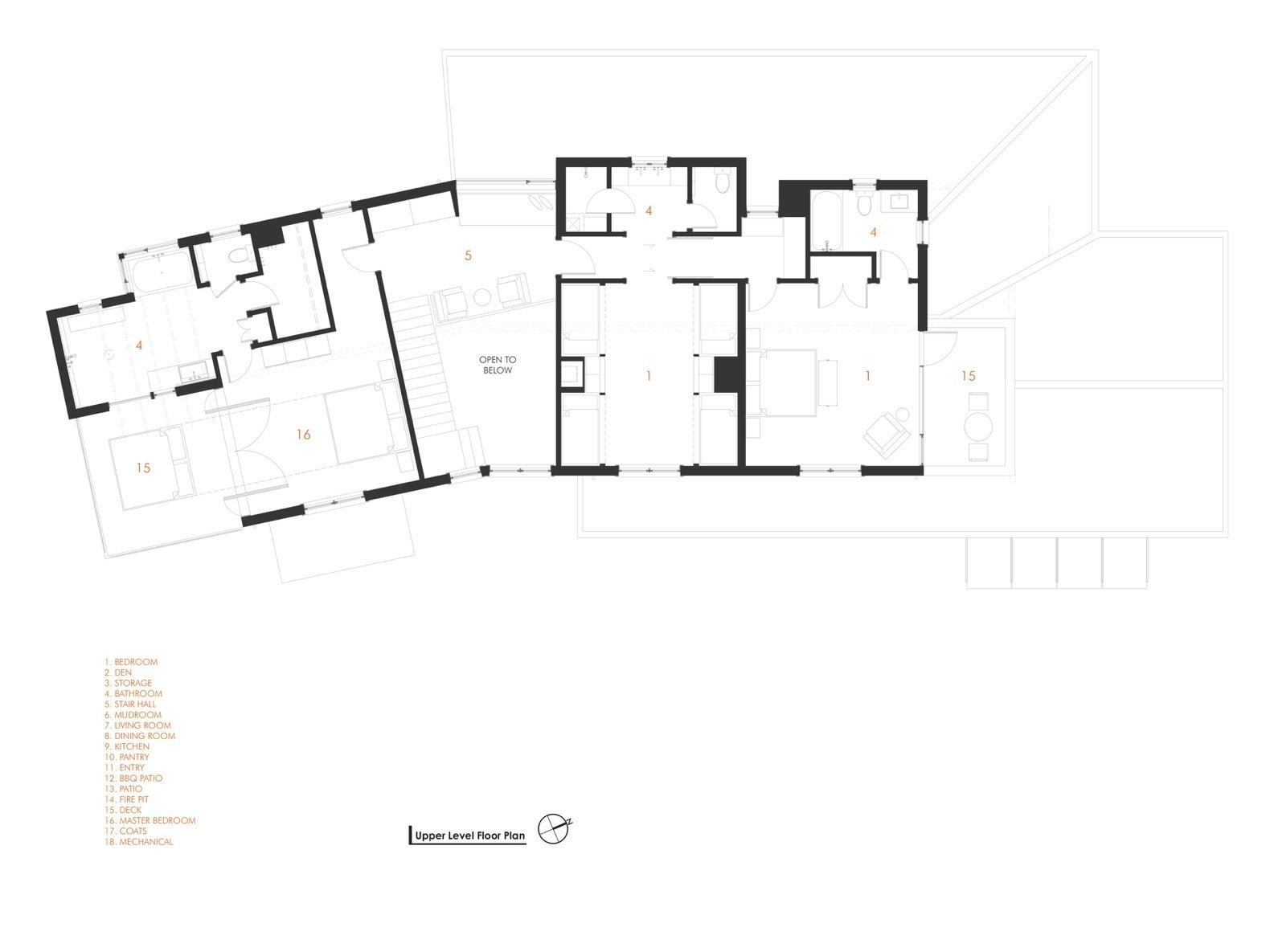 Orcas Island Retreat DeForest Architects plan