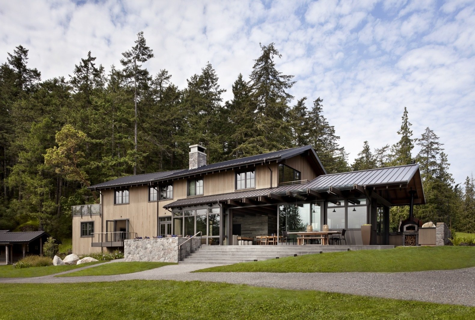 Orcas Island Retreat DeForest Architects exterior
