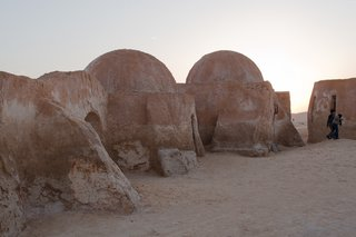 The otherworldly desert landscapes and dwellings in Tunisia have made the country a popular destination for filmmakers and tourists alike. These subterranean homes by the native Berber population tap into the naturally cooling and insulating properties of earth.