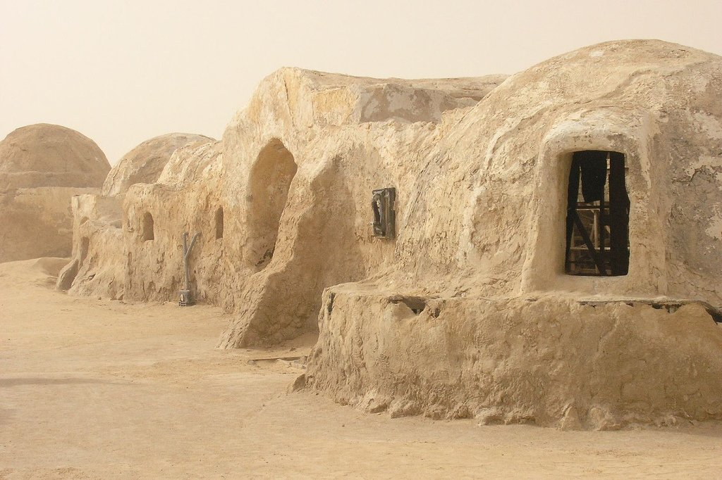 Berber dwellings in Tunisia