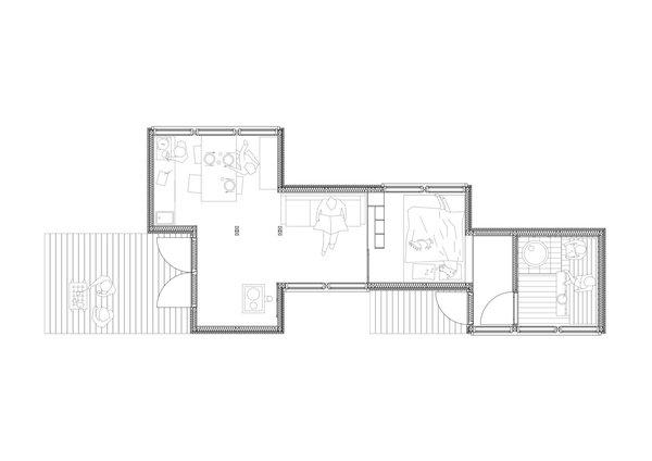 Small But Fine Cabin floor plan