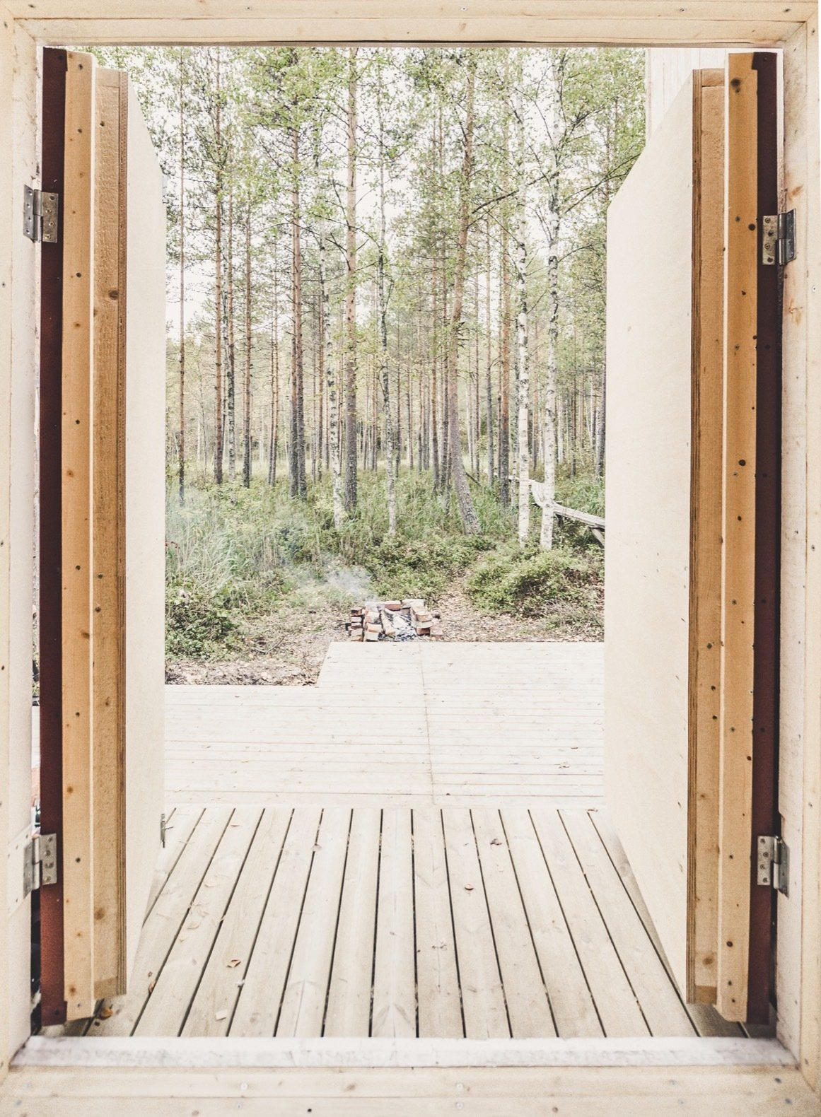 Small But Fine Cabin deck